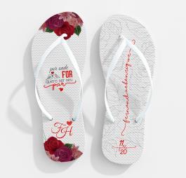 Chinelo casamento mod03 80% Borracha e 20% E.V.A   Sublimação