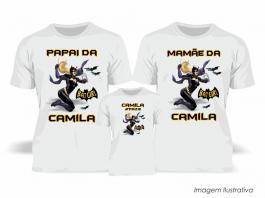 Kit Camiseta Temática Batgirl Tecido Poliéster Estampa Colorida A3  Sublimação