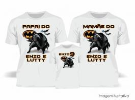 Kit Camiseta Temática Batman Tecido Poliéster Estampa Colorida A3  Sublimação