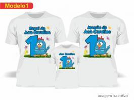 Kit Camiseta Temática Galinha Pintadinha Tecido Poliéster Estampa Colorida A3  Sublimação