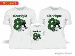 Kit Camiseta Temática Hulk Tecido Poliéster Estampa Colorida A3  Sublimação