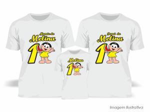 Kit Camiseta Temática Magali Tecido Poliéster Estampa Colorida A3  Sublimação