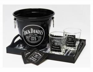 KIT HOME BAR WISKY JACK DANIELS Alumínio-madeira-vidro Balde 5 Litros