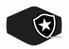 MÁSCARA EM TECIDO FUTEBOL (BOTAFOGO) MOD330 Estampa personalizada no tecido 100% poliéster   1 camada de TECIDO TRICOLINE 100% ALGODÃO formando uma dupla proteção. Costura
