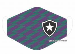 MÁSCARA EM TECIDO FUTEBOL (BOTAFOGO) MOD609 Estampa personalizada no tecido 100% poliéster   1 camada de TECIDO TRICOLINE 100% ALGODÃO formando uma dupla proteção. Costura
