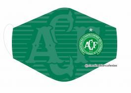 MÁSCARA EM TECIDO FUTEBOL (CHAPECOENSE) MOD628 Estampa personalizada no tecido 100% poliéster   1 camada de TECIDO TRICOLINE 100% ALGODÃO formando uma dupla proteção. Costura