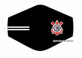 MÁSCARA EM TECIDO FUTEBOL (CORINTHIANS) MOD630 Estampa personalizada no tecido 100% poliéster   1 camada de TECIDO TRICOLINE 100% ALGODÃO formando uma dupla proteção. Costura