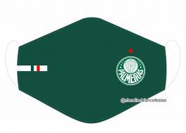 MÁSCARA EM TECIDO FUTEBOL (PALMEIRAS) MOD613 Estampa personalizada no tecido 100% poliéster   1 camada de TECIDO TRICOLINE 100% ALGODÃO formando uma dupla proteção. Costura