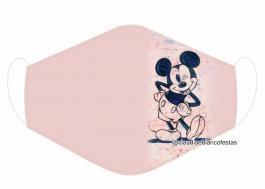 MÁSCARA EM TECIDO INFANTIL MICKEY MOD478 Estampa personalizada no tecido 100% poliéster   1 camada de TECIDO TRICOLINE 100% ALGODÃO formando uma dupla proteção. Costura