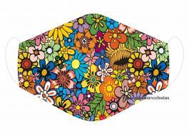 MÁSCARA EM TECIDO MOD175 Estampa personalizada no tecido 100% poliéster   1 camada de TECIDO TRICOLINE 100% ALGODÃO formando uma dupla proteção. Costura