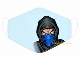 MÁSCARA EM TECIDO GAMES MOD239 Estampa personalizada no tecido 100% poliéster   1 camada de TECIDO TRICOLINE 100% ALGODÃO formando uma dupla proteção. Costura