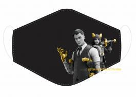 MÁSCARA EM TECIDO GAMES FORTNITE MOD254 Estampa personalizada no tecido 100% poliéster   1 camada de TECIDO TRICOLINE 100% ALGODÃO formando uma dupla proteção. Costura