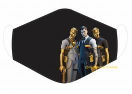 MÁSCARA EM TECIDO GAMES FORTNITE MOD256 Estampa personalizada no tecido 100% poliéster   1 camada de TECIDO TRICOLINE 100% ALGODÃO formando uma dupla proteção. Costura