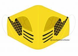 MÁSCARA EM TECIDO GAMES MOD259 Estampa personalizada no tecido 100% poliéster   1 camada de TECIDO TRICOLINE 100% ALGODÃO formando uma dupla proteção. Costura