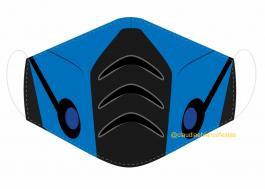 MÁSCARA EM TECIDO GAMES SUB-ZERO MOD260 Estampa personalizada no tecido 100% poliéster GAME  1 camada de TECIDO TRICOLINE 100% ALGODÃO formando uma dupla proteção. Costura