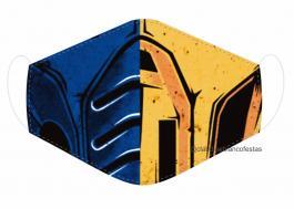 MÁSCARA EM TECIDO GAMES MOD261 Estampa personalizada no tecido 100% poliéster   1 camada de TECIDO TRICOLINE 100% ALGODÃO formando uma dupla proteção. Costura