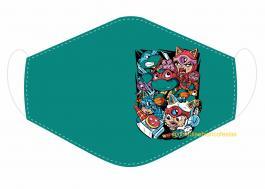 MÁSCARA EM TECIDO MOD269 Estampa personalizada no tecido 100% poliéster   1 camada de TECIDO TRICOLINE 100% ALGODÃO formando uma dupla proteção. Costura