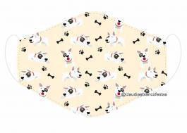 MÁSCARA EM TECIDO PET MOD397 Estampa personalizada no tecido 100% poliéster   1 camada de TECIDO TRICOLINE 100% ALGODÃO formando uma dupla proteção. Costura
