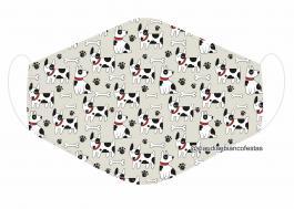 MÁSCARA EM TECIDO PET MOD398 Estampa personalizada no tecido 100% poliéster   1 camada de TECIDO TRICOLINE 100% ALGODÃO formando uma dupla proteção. Costura