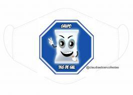 MÁSCARA EM TECIDO MOD388 Estampa personalizada no tecido 100% poliéster   1 camada de TECIDO TRICOLINE 100% ALGODÃO formando uma dupla proteção. Costura