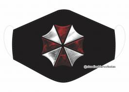 MÁSCARA EM TECIDO GAMES UMBRELLA MOD352 Estampa personalizada no tecido 100% poliéster   1 camada de TECIDO TRICOLINE 100% ALGODÃO formando uma dupla proteção. Costura