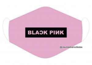 MÁSCARA EM TECIDO BLACK PINK MOD1219 Estampa personalizada no tecido 100% poliéster   1 camada de TECIDO TRICOLINE 100% ALGODÃO formando uma dupla proteção. Costura