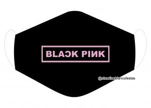 MÁSCARA EM TECIDO BLACK PINK MOD1220 Estampa personalizada no tecido 100% poliéster   1 camada de TECIDO TRICOLINE 100% ALGODÃO formando uma dupla proteção. Costura