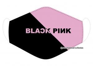 MÁSCARA EM TECIDO BLACK PINK MOD1221 Estampa personalizada no tecido 100% poliéster   1 camada de TECIDO TRICOLINE 100% ALGODÃO formando uma dupla proteção. Costura