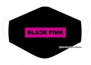 MÁSCARA EM TECIDO BLACK PINK MOD1223 Estampa personalizada no tecido 100% poliéster   1 camada de TECIDO TRICOLINE 100% ALGODÃO formando uma dupla proteção. Costura