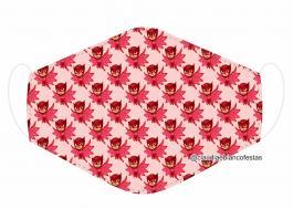 MÁSCARA EM TECIDO INFANTIL (PJ MASKS) MOD817 Estampa personalizada no tecido 100% poliéster   1 camada de TECIDO TRICOLINE 100% ALGODÃO formando uma dupla proteção. Costura