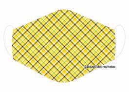 MÁSCARA EM TECIDO MOD684 Estampa personalizada no tecido 100% poliéster   1 camada de TECIDO TRICOLINE 100% ALGODÃO formando uma dupla proteção. Costura