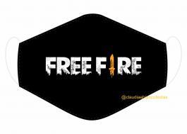 MÁSCARA EM TECIDO GAMES FREE FIRE  MOD132 Estampa personalizada no tecido 100% poliéster   1 camada de TECIDO TRICOLINE 100% ALGODÃO formando uma dupla proteção. Costura
