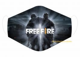 MÁSCARA EM TECIDO GAMES FREE FIRE  MOD134 Estampa personalizada no tecido 100% poliéster   1 camada de TECIDO TRICOLINE 100% ALGODÃO formando uma dupla proteção. Costura