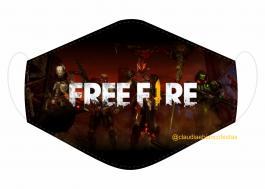 MÁSCARA EM TECIDO GAMES FREE FIRE  MOD136 Estampa personalizada no tecido 100% poliéster   1 camada de TECIDO TRICOLINE 100% ALGODÃO formando uma dupla proteção. Costura