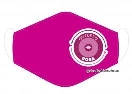 MÁSCARA EM TECIDO OUTUBRO ROSA MOD884 Estampa personalizada no tecido 100% poliéster   1 camada de TECIDO TRICOLINE 100% ALGODÃO formando uma dupla proteção. Costura