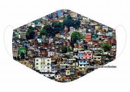 MÁSCARA EM TECIDO RIO DE JANEIRO MOD701 Estampa personalizada no tecido 100% poliéster   1 camada de TECIDO TRICOLINE 100% ALGODÃO formando uma dupla proteção. Costura