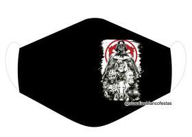 MÁSCARA EM TECIDO SÉRIE NERD MOD1038 Estampa personalizada no tecido 100% poliéster   1 camada de TECIDO TRICOLINE 100% ALGODÃO formando uma dupla proteção. Costura