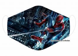 MÁSCARA EM TECIDO SUPER HEROES MOD726 Estampa personalizada no tecido 100% poliéster   1 camada de TECIDO TRICOLINE 100% ALGODÃO formando uma dupla proteção. Costura