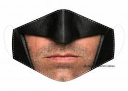 MÁSCARA EM TECIDO SUPER HEROES BATMAN MOD038 Estampa personalizada no tecido 100% poliéster   1 camada de TECIDO TRICOLINE 100% ALGODÃO formando uma dupla proteção. Costura