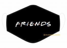 MÁSCARA EM TECIDO SÉRIES (FRIENDS) MOD053 Estampa personalizada no tecido 100% poliéster   1 camada de TECIDO TRICOLINE 100% ALGODÃO formando uma dupla proteção. Costura