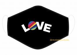 MÁSCARA EM TECIDO NOW UNITED MOD054 Estampa personalizada no tecido 100% poliéster   1 camada de TECIDO TRICOLINE 100% ALGODÃO formando uma dupla proteção. Costura