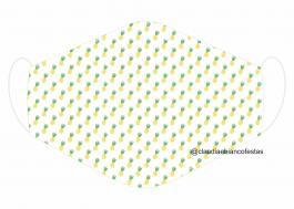 MÁSCARA EM TECIDO MOD061 Estampa personalizada no tecido 100% poliéster   1 camada de TECIDO TRICOLINE 100% ALGODÃO formando uma dupla proteção. Costura