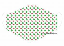 MÁSCARA EM TECIDO MOD062 Estampa personalizada no tecido 100% poliéster   1 camada de TECIDO TRICOLINE 100% ALGODÃO formando uma dupla proteção. Costura