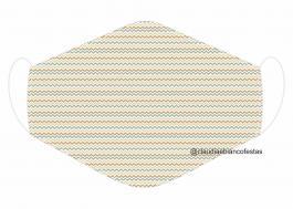 MÁSCARA EM TECIDO MOD068 Estampa personalizada no tecido 100% poliéster   1 camada de TECIDO TRICOLINE 100% ALGODÃO formando uma dupla proteção. Costura