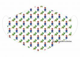 MÁSCARA EM TECIDO INFANTIL MOD069 Estampa personalizada no tecido 100% poliéster   1 camada de TECIDO TRICOLINE 100% ALGODÃO formando uma dupla proteção. Costura