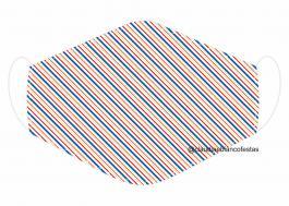 MÁSCARA EM TECIDO MOD070 Estampa personalizada no tecido 100% poliéster   1 camada de TECIDO TRICOLINE 100% ALGODÃO formando uma dupla proteção. Costura