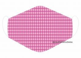 MÁSCARA EM TECIDO MOD079 Estampa personalizada no tecido 100% poliéster   1 camada de TECIDO TRICOLINE 100% ALGODÃO formando uma dupla proteção. Costura