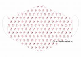 MÁSCARA EM TECIDO INFANTIL MOD080 Estampa personalizada no tecido 100% poliéster   1 camada de TECIDO TRICOLINE 100% ALGODÃO formando uma dupla proteção. Costura