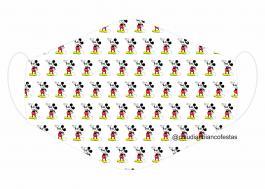MÁSCARA EM TECIDO INFANTIL MOD084 Estampa personalizada no tecido 100% poliéster   1 camada de TECIDO TRICOLINE 100% ALGODÃO formando uma dupla proteção. Costura