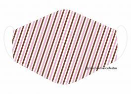 MÁSCARA EM TECIDO MOD092 Estampa personalizada no tecido 100% poliéster   1 camada de TECIDO TRICOLINE 100% ALGODÃO formando uma dupla proteção. Costura